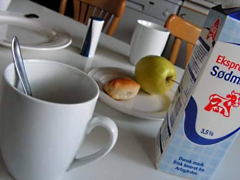 Frühstück in Dänemark